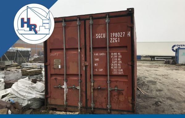 Gebruikte 20ft zeecontainer