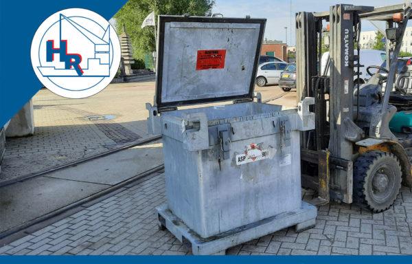 Container voor verfafval